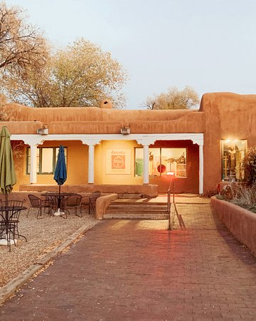 Front entrance facing the heart of historic Taos