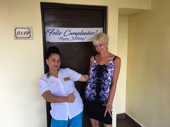 Azul Beach Resort Resort Riviera Cancun: Marina the oh so funny and nice maid.