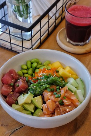 Tuna and Salmon Poke Bowl