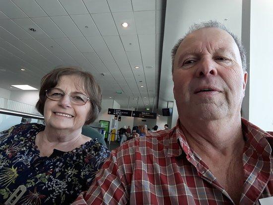 Air New Zealand: Pat & Warren looking forward to Wellington.