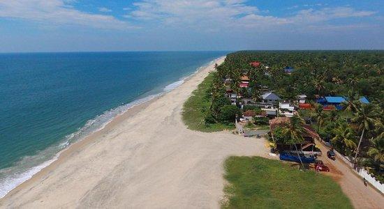 Alappuzha Beach: Drone view of our stretch of beach
