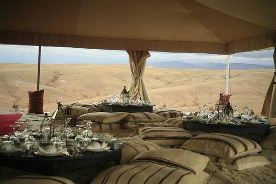 Magical dinner in Marrakech desert