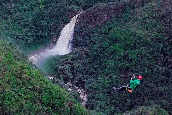 EPIC ZIPLINE AND GIANT WATERFALL FROM...