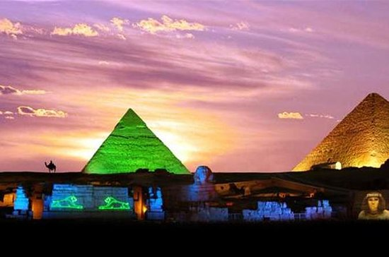Sound And Light show at the Pyramids of Giza 사진