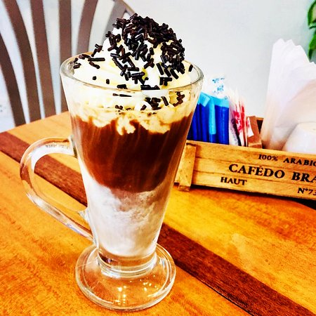 Iced Mocha Nutella coffee