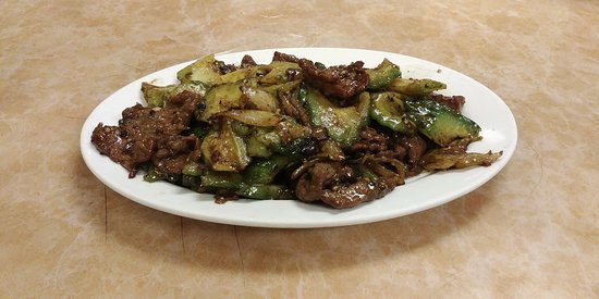 Sauteed Beef with Bitter Melon