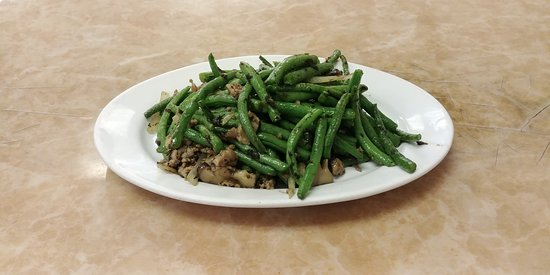 Kam Ding Seafood Restaurant: String Beans with Minced Pork and Olives