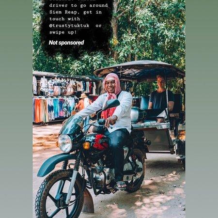 Trusty Tuk Tuk in Siem Reap ,Angkor!