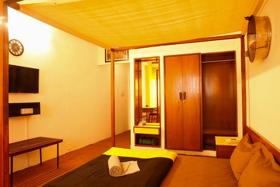 private room with attached washroom at the hosteller jaipur, for the accomodation of two people.
