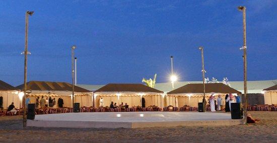Dubai: Sunset Camel Trek & Red Dunes Safari with BBQ at Al Khayma Camp: The camp from inside