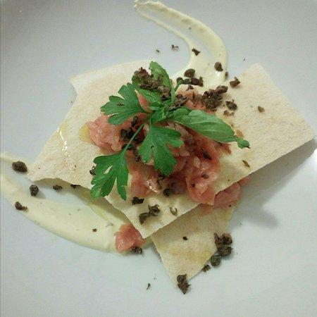 salmone e carasau