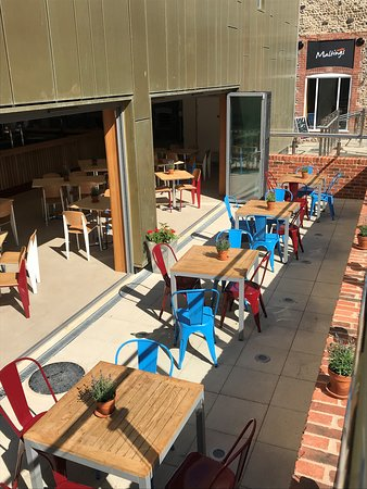 ...and our outside terrace - a real sun trap