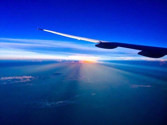 Emirates: Sunset over somewhere en route to Bali