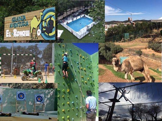 El Ronquillo, Spanien: Restautante y piscina