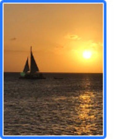 Aruba Sunset Cocktail Cruise: Sunset from Mi Dushi