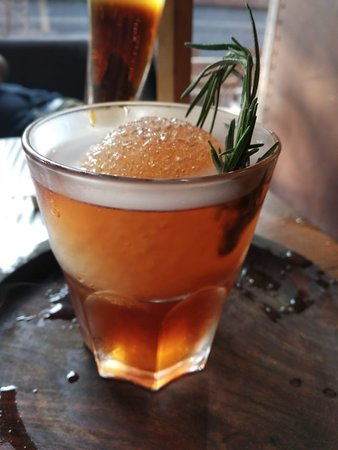 Lord of the Drinks: -Rosemary Blue Berry Old Fashioned