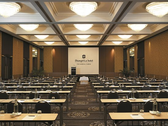 Shangri-La Hotel, The Marina, Cairns: Hotel Ballroom with a Classroom set-up