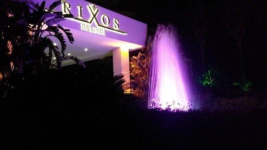 Вечером включали фонтан