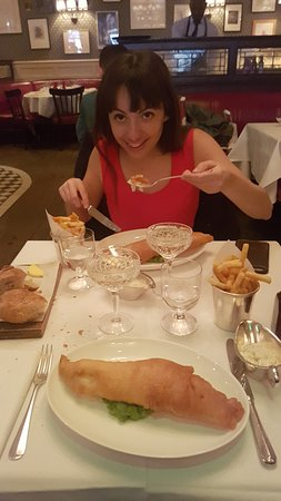 Dean Street Townhouse Hotel & Dining Room : fish & chips