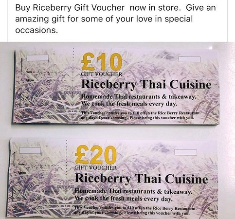 Gift Voucher available now