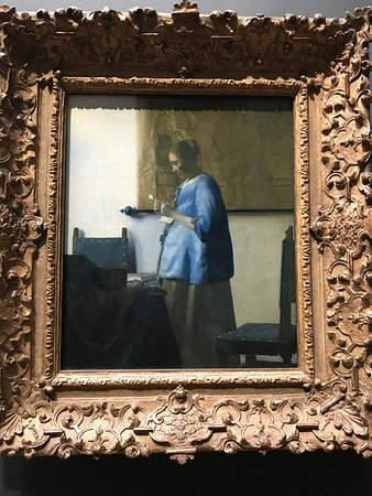 """""""Woman Reading a Letter"""" by Vermeer"""