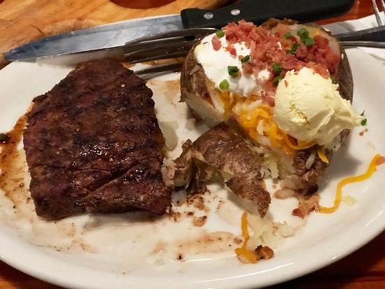 Tucson's Steakhouse: FLAT IRON STEAK w/ LOADED POTATO