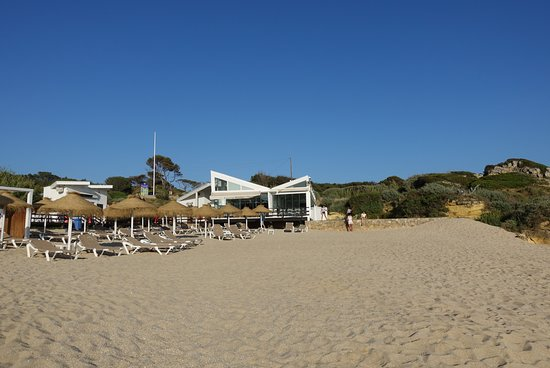 Evaristo: La plage du restaurant