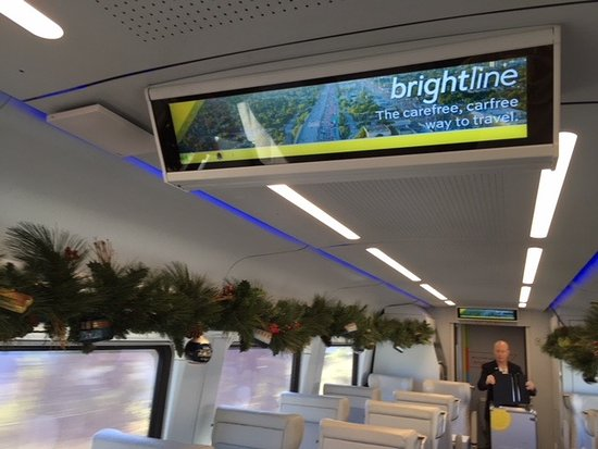 Brightline: 'Select' class information screen