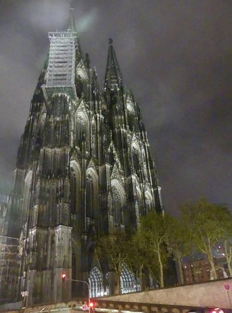 Cathedral dramatic at night