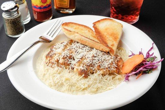 Larry B's Rhythm Room featuring Hazel's Gourmet Chicken and Waffles: Blacken Chicken Alfredo