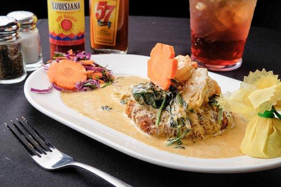 Larry B's Rhythm Room featuring Hazel's Gourmet Chicken and Waffles: Crab Cake Savannah