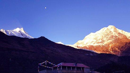 Mount Manaslu: Samagaun, A small mountain village in western Nepal of Manaslu Circuit Trek