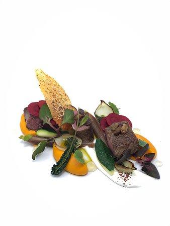 Hawkes bay lamb loin, carrot, cumin, yoghurt, raisin, sumac, mint