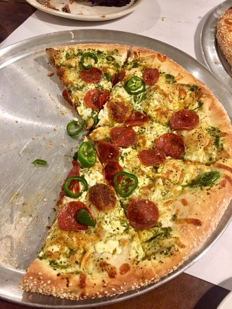 The Last Chair Bar & Grill: Pepperoni jalapeno pizza