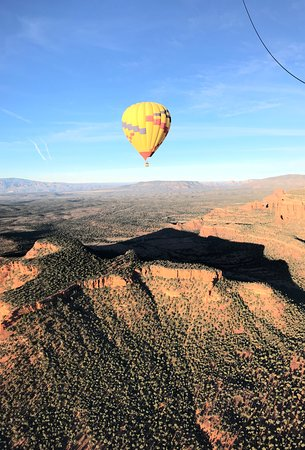 View from our balloon to another traveling with us
