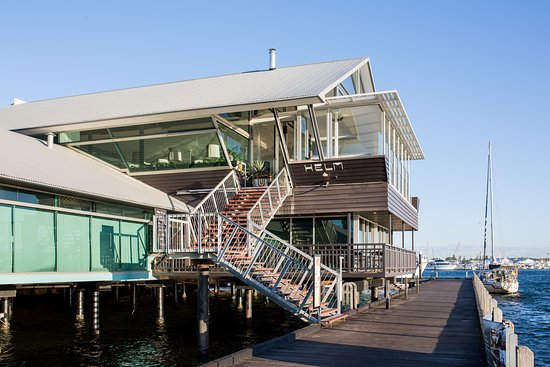 Welcome to Helm, a unique bar and restaurant on the Fremantle Fishing Boat Harbour.