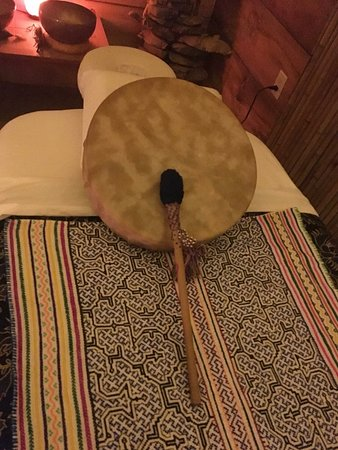 sound healing drum from Peru