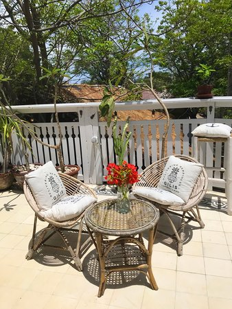 Outdoor terrace on second floor