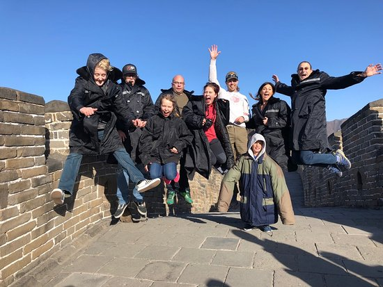 Beijing Layover Small Group Tour to Great Wall & Forbidden City (7AM-3PM): A good jumping picture makes any trip complete!