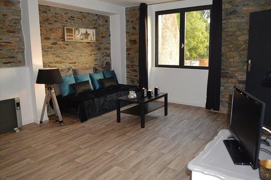 Brandivy, فرنسا: chambre Élégance coin salon