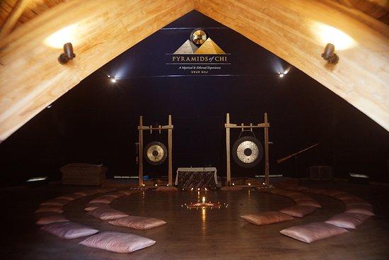 Moon Pyramid, Cacao Ceremony set up