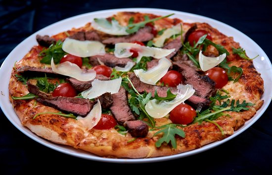 Beef & Gorgonzola Pizza A gourmet like pizza that will amaze your senses