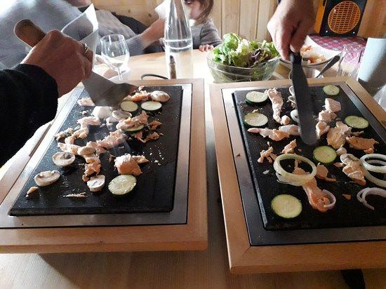 Restaurant Là-Haut: La pierrade....