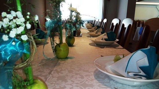 Gasthaus Kickmaier: Bei Feierlichkeiten werden die Tische immer wunderbar gedeckt.