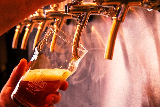 21 Brewpub Gallas Craft beer: Beer taps