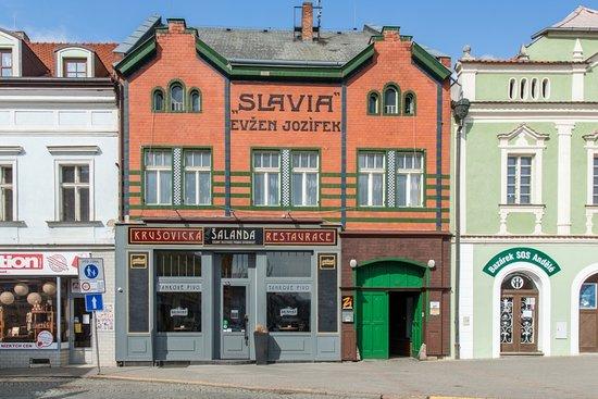 Historický dům, původní kavárna Slávie