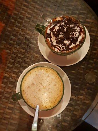 The Real Green Cafe: Coffee and Hazelnut choco milk