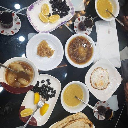 Kurdish breakfast. Iraq, Kurdistan,  Dohuk province.