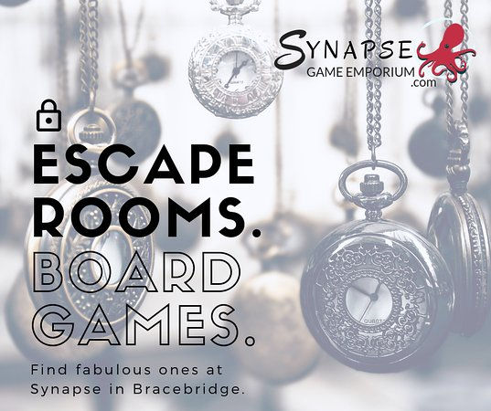 Bracebridge, Canadá: ESCAPE ROOMS. BOARD GAMES.