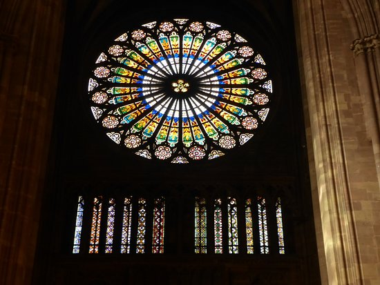 Cathedrale Notre Dame de Strasbourg: Rose Stained Glass Window